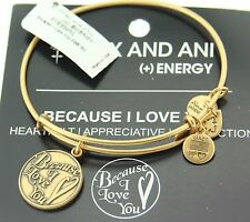 Alex and Ani Because I Love You Russian Gold Expandable Energy Bracelet