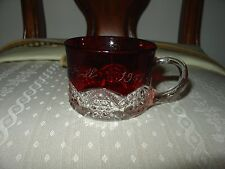 RUBY STAINED SOUVENIR CUP 1901