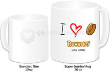 Personalised Jumbo Giant 20oz Mug- Coffee Bean Design #1- Any Name