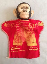 Vintage J Fred Muggs Hand puppet mascot of early Today Show 1954