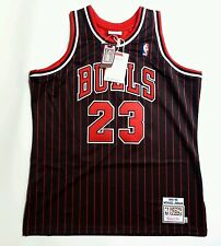 100% Authentic Michael Jordan Mitchell Ness Pinstripe 95 96 Bulls Jersey XL 48