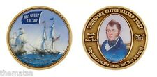 "NAVY COMMODORE OLIVER HAZARD PERRY DON'T GIVE UP THE SHIP 1.75"" CHALLENGE COIN"