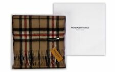Thompson Camel Brown Tartan Scarf - Mens Womens 100% Pure Wool Gift Box (THOM-W)