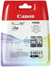 Canon PG 510 CL 511 originale cartucce inchiostro PIXMA MP492 MP495 MP499 MX320