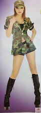 WOMENS ARMY GIRL COSTUME Sexy Military Combat Cutie Dress Hat Shorts Jacket New