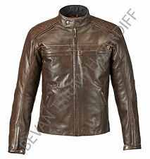 TRIUMPH RESTORE BROWN LEATHER MOTORCYCLE JACKET MLHS16502 SIZE XXL