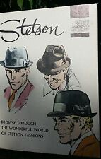 C1950's STETSON HATS Cardboard STAND UP Counter Display ADVERTISING SIGN