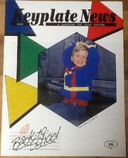 1988 Keyplate News # 16 Pattern Book Bond USM Ultimate Sweater Machine knitting
