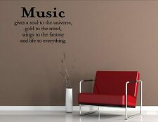 Music Gives- Vinyl Quote Me Wall Art Decals #1472