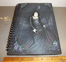 Hardcover Spiral Bound Journal Gothic Design, Gothic Woman, Goblet & castle