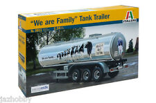 "Italeri 3911 1/24 Model Truck Kit Swissmilk ""We are Family"" 40Litre Tank Trailer"