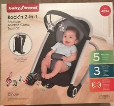 NEW! Baby Trend Rock'n 2-in-1 Bouncer Portable Foldable Child Rocker Lounger NIP