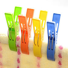 NEW Set of 4 Beach Towel Clips in Fun Bright Colors Prevents Towels Blowing Away