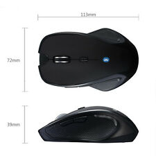 Wireless Mini Bluetooth 3.0 6D 1600DPI Optical Gaming Mouse Mice Black Laptop PC