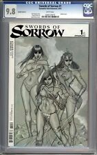 Swords of Sorrow #1___Frison sketch variant___Red Sonja, Vampirella___CGC 9.8