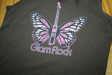 Hank made in Hollywood cotton vest Glam Rock size Large crystals butterfly
