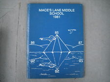 1981 Mace's Lane Cambridge Middle School Yearbook Dorchester County Maryland
