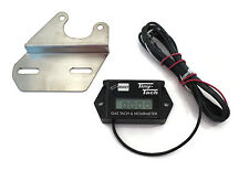 New Waterproof Tiny Tach Digital Hour Meter Tach w/ Bracket Resettable Job Timer