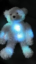 "COLOR  Kinetics Glo E Changing Light Plush TEDDY BEAR  Plush 14"" changing COLORS"