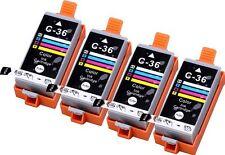 4 Pack Ink for Canon CLI-36 cli 36 Color PIXMA ip100 mini260 mini320