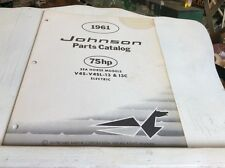 1961 Johnson 75 hp Sea Horse Model V4S V4SL 13 13C Electric Outboard Motor Parts