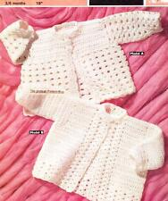 2 MATINEE JACKETS 3 to 6 months / DK or 8ply - Baby crochet pattern