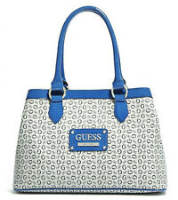 NEW GUESS BLUE PROPOSAL LARGE SATCHEL HANDBAG BAG PURSE