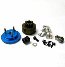 TD10120 1/8 RC Alloy 3 Shoe 14T Clutch Kit Blue Flywheel + Shoes + Bearings