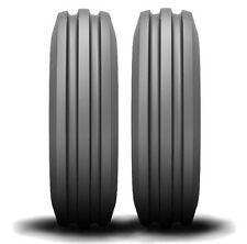 Two 4.00-8 Deestone 3-Rib Front Garden Tractor Tires & Tubes fits Cub Cadet