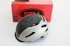 New Bell Hub Adult Bike Helmet Cycling Urban Commute Medium Matte Platinum Black