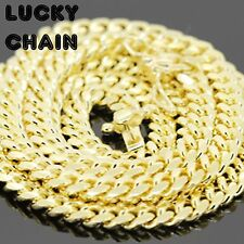 """925 STERLING SILVER MIAMI CUBAN LINK CHAIN GOLD NECKLACE 28""""x5mm 54g W"""
