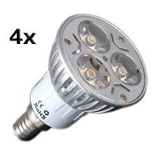 4X E14 3W 3 LED Warm White Spotlight Energy Saving Spot Light Lamp Bulb 230V B