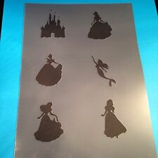 Disney Princess Stencil Template Flags Banner Paint Craft Fabric Brush Bedroom