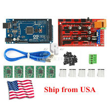3D Printer Kit Mega 2560 + RAMPS 1.4 + 5X A4988 for Arduino RepRap US Shipping