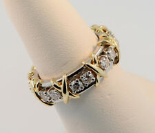 Tiffany & Co Schlumberger Sixteen Stone Diamond Ring Platinum+Gold Sz 5.5