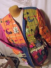 UGLY NEW Crystal Handwovens Wearable Art Womens Jacket Cinderella $336 Med Doll