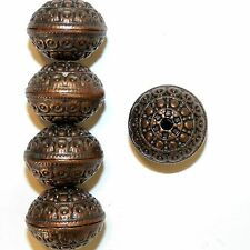 MB3143p Antiqued Copper 18mm Rondelle Metal Alloy Beads 5/pkg
