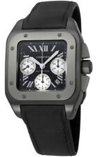 Cartier Santos 100 XL Carbon Titanium Ref#W2020005 Automatic Chrono Men's Watch