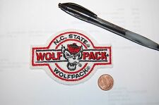 "North Carolina State Wolfpack 3 3/4"" Banner Logo Patch College B"