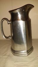 """Vintage Wilton Mulberry Hill Pewter Pitcher w/ice guard 10 1/4"""" Nice!"""