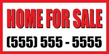 4'x8' HOME FOR SALE CUSTOM NUMBER Sign Vinyl Banner house condo apartment