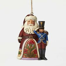 Jim Shore Santa w/Toy Soldier Christmas Hanging Ornament ~ 4049410