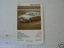 31-CARS/AUTO 6B VOLVO 242 GT KWARTET KAART, QUARTETT CARD,