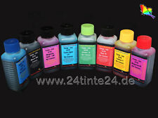 8 x 250 ml Encre Ink pour Canon pixma pro 9000 Mark II cli-8 G r red green bci-7e