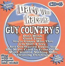 Party Tyme Karaoke: Guy Country 5 2008 by Party Tyme Karaoke ExLibrary