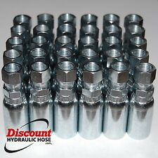 "(12) FJX-04-06 Hydraulic Hose Crimp Fittings 1/4"" x #6 JIC 37° Female 04U-606"