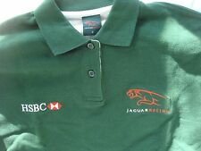 Brand New Women's HSBC Jaguar Racing Green Polo Shirt Size 2 100% Cotton Top