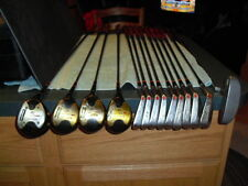 WILSON AL950 WOODS 1,3,4,5 DYNAPOWER IRONS 2-PW REGULAR STEEL SHAFTS  RIGHT HAND