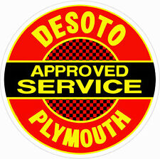 Desoto Service Plymouth Station Gas And Oil Sign