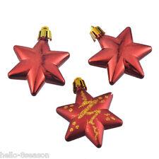 1Box/5PCs Red Star Christmas Tree Decoration Xmas Supplies 19.5x4.5cm